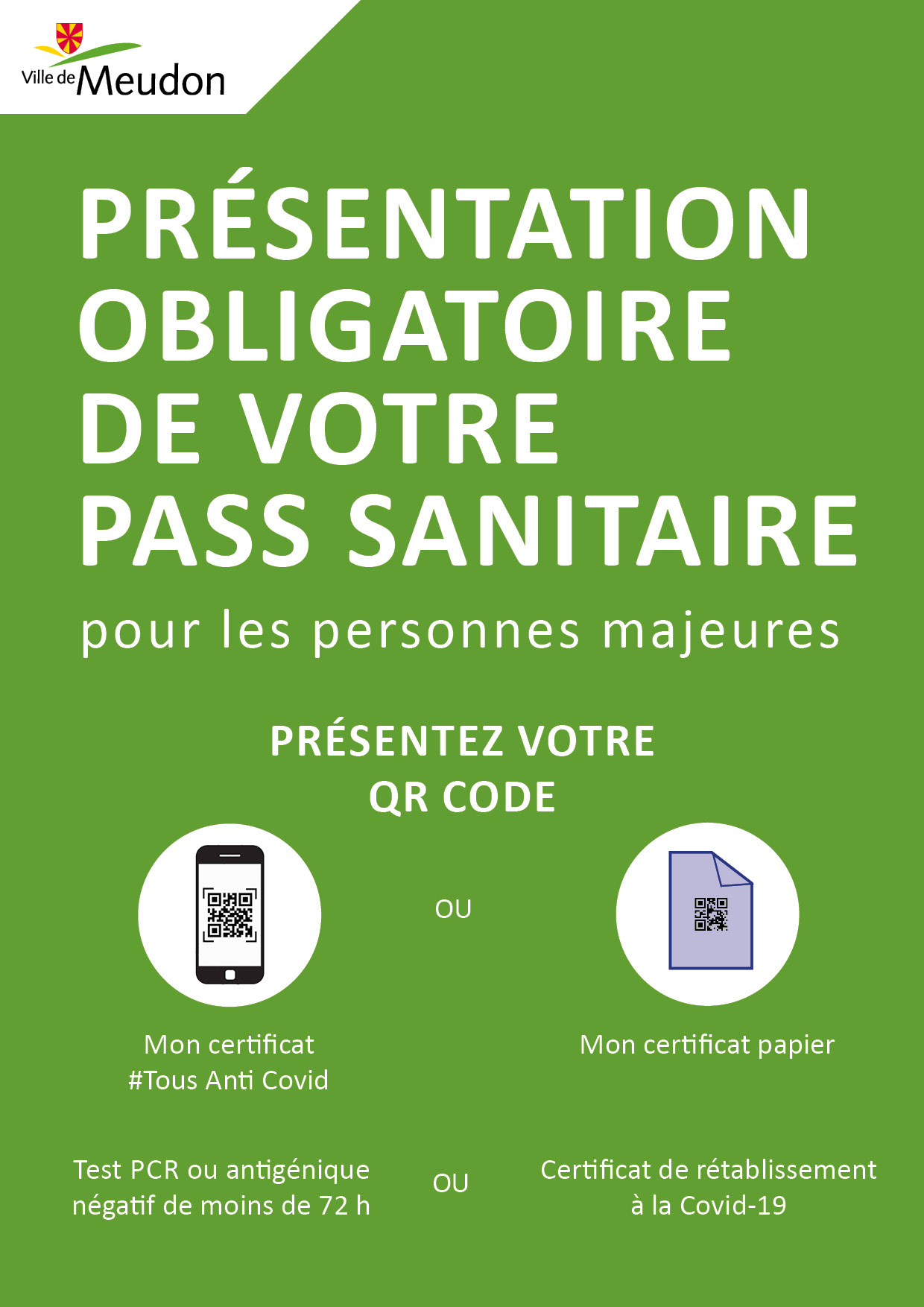 A3 pass sanitaire
